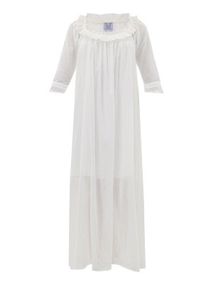THIERRY COLSON rosine floral-embroidered cotton-voile maxi dress