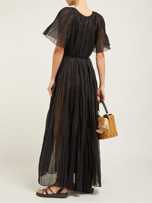 THIERRY COLSON sabina pleated cotton blend dress