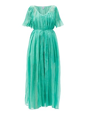 THIERRY COLSON sabina pleated cotton dress