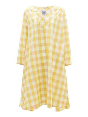 THIERRY COLSON samia gingham-checked cotton-blend dress