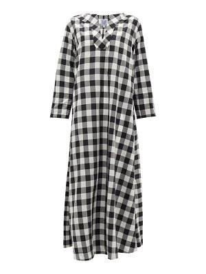 THIERRY COLSON samia sailor-collar cotton-blend gingham dress