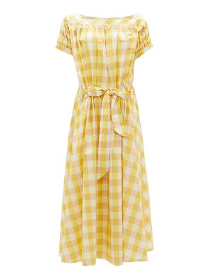 THIERRY COLSON vera gingham cotton-blend dress