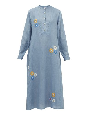 THIERRY COLSON victoria floral-embroidered cotton midi dress