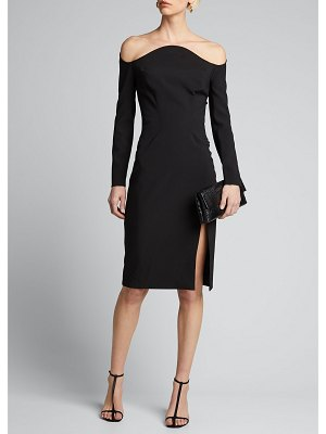 Thierry Mugler Off-the-Shoulder Cocktail Dress