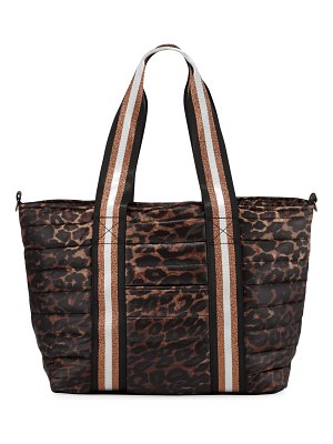 Think Royln Junior Wingman Leopard-Print Quilted Tote Bag