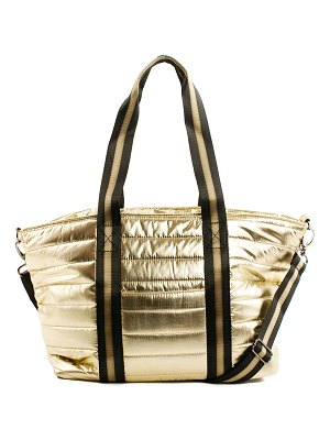 Think Royln Junior Wingman Metallic Quilted Tote Bag