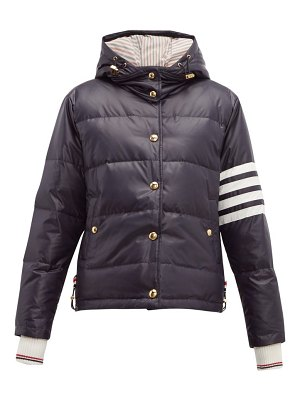 Thom Browne 4 bar quilted down bomber jacket