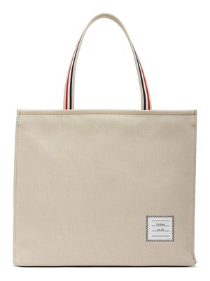 Thom Browne beige never full tote