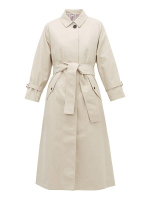 Thom Browne belted twill trench coat