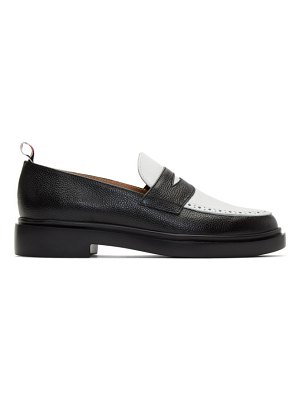 Thom Browne black and white lightweight sole penny loafers