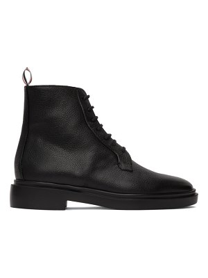 Thom Browne black blucher lightweight rubber sole boots
