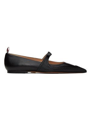 Thom Browne black brogued bow ballerina flats