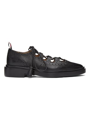 Thom Browne black ghille oxfords