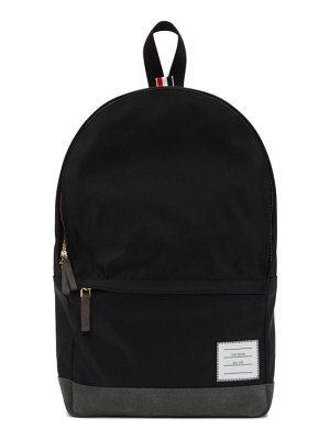 Thom Browne black leather base unstructured backpack