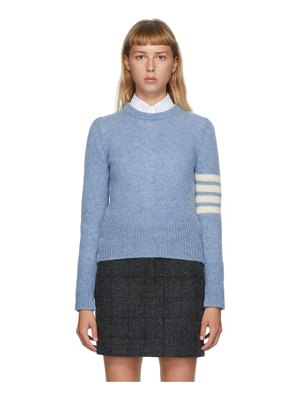 Thom Browne blue shetland wool 4-bar sweater