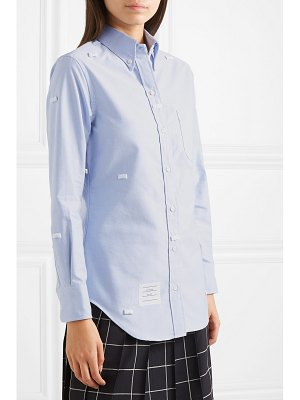 Thom Browne bow-embellished cotton oxford shirt