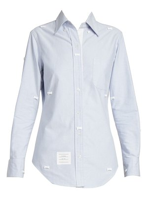Thom Browne bow embroidered collared shirt