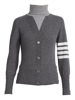 Thom Browne cashmere layered knit turtleneck pullover