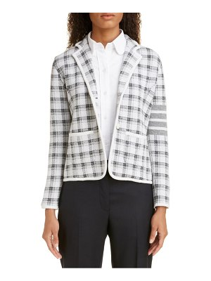 Thom Browne check jacquard cashmere & wool sweater jacket