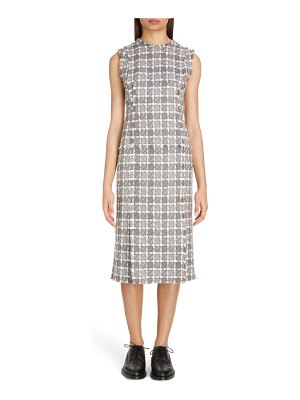 Thom Browne check tweed midi dress