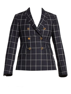 Thom Browne check wool double-breasted blazer
