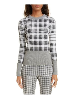 Thom Browne checked jacquard cashmere & wool sweater