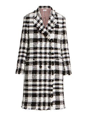 Thom Browne chenille yarn tweed double breasted sack jacket