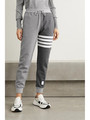 Thom Browne color-block cotton-jersey track pants