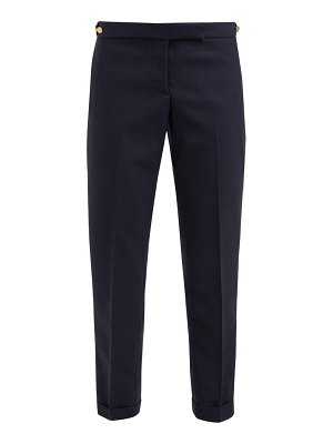 Thom Browne cropped straight leg wool crepe trousers