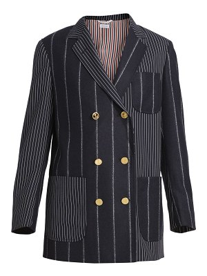 Thom Browne double breasted stretch-wool sack jacket