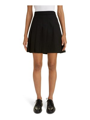 Thom Browne drop back pleated wool miniskirt