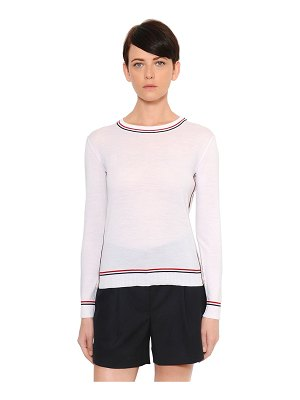Thom Browne Fine merino wool knit sweater