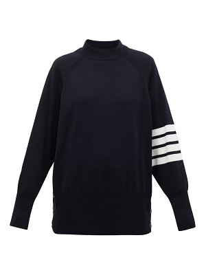 Thom Browne four-bar buttoned cotton sweater