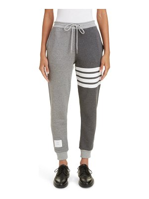 Thom Browne four-bar cotton joggers
