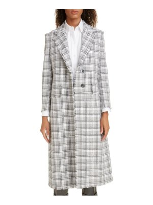 Thom Browne fray tweed coat