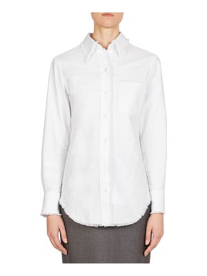 Thom Browne frayed button-down blouse
