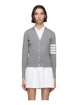 Thom Browne grey hector icon cardigan