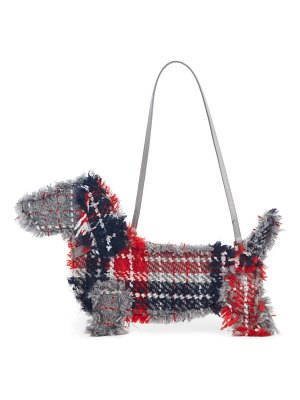 Thom Browne hector tweed flat clutch