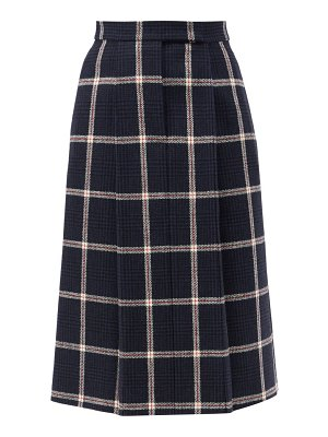 Thom Browne high-rise checked wool-tweed skirt