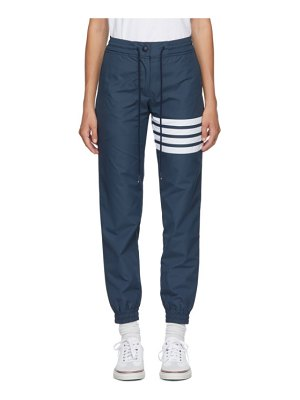 Thom Browne navy 4-bar track pants