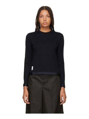 Thom Browne navy sheer back sweater