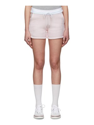 Thom Browne pink and white striped shorts
