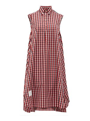 Thom Browne plaid sleeveless cotton shirt dress