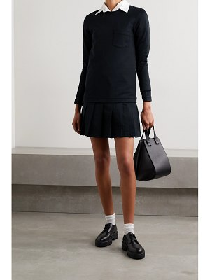 Thom Browne pleated cotton mini dress