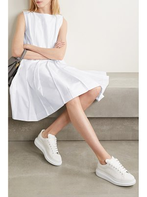Thom Browne pleated cotton oxford dress
