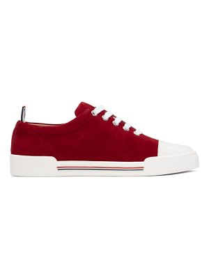 Thom Browne red toe cap trainer sneakers