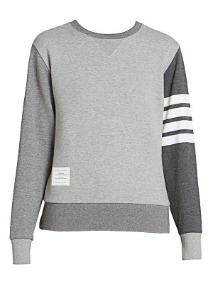 Thom Browne relaxed fit striped crewneck sweater