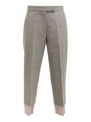 Thom Browne straight leg wool trousers