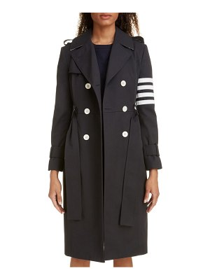 Thom Browne stripe sleeve waterproof trench coat