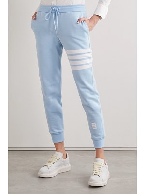 Thom Browne striped cotton-jersey track pants